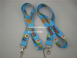 Wholesale Shipping 35PCS Lot Printed The Adventure Time With Finn & Jake Polyester Lanyard With Metal Clip, Cell Phone Strap