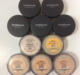 Wholesale 2016 Hot top quality makeup Bare Minerals original Loose Powder Foundation g SPF15 NEW Click Lock fairly light medium beige shades New