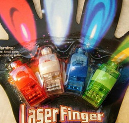 Wholesale - 4x Color LED laser finger beams party Light-up finger ring laser lights