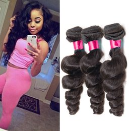 Cheap Remy Cambodgian Hair Weaves Loose Wave 3Bundles Lot Non Traité Virgin Cambodgian Extensions de cheveux humains Ondulé Remy Hair Weft Can Dye à partir de fabricateur