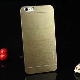 Wholesale iphone6 plus brushed metal protective shell protective sleeve apple iphone6 inch protective sleeve