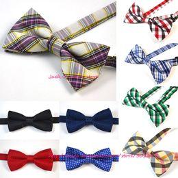 Wholesale Children Baby Boys Color Imitation Silk Formal Tuxedo Bowtie Bow Tie Kids Printed Wedding Necktie