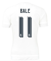 Wholesalers Thai Quality top Football Jerseys Tops,Customized Cheap best Quality Soccer Shirts,15-16 NEW Season 11 BALE# Away Soccer Jerseys