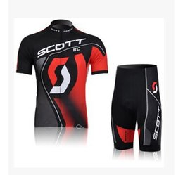 Wholesale Scott Cycling Jersey cycling clothes Cycling Short Sleeve clothes Bicycle Jersey Ciclismo and Cycling Shorts Kit Summer Cycling Clothing