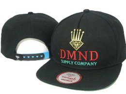 Wholesale DMND supply company logo baseball caps for men women casual adjsutable hiphop bones female gorras snap back hats hombre