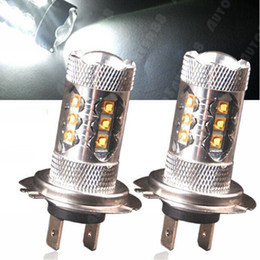 Super White High Power LED 80W H7 Fog Light with lens other base available H4 H7 H8 H11 H9 9006 9005