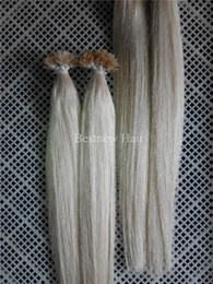 "100g Brazilian Indian Remy Nail U tip hair extensions 1g s 16"" 18"" 20"" 22"" 24"" 60# Platinum Blonde Nail Tips Hair Sets"