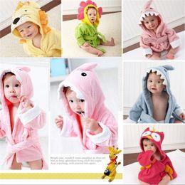 Wholesale 35pcs new arrive best price Baby s Bathrobe designs Baby Bath Towels Animal Children Bath Robe Newborn Blankets Bathing Towel Hooded D301