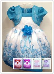 Wholesale Niño púrpura vestidos de niña para bodas real de la princesa del vestido de cumpleaños para niños pequeños Niñas vestidos de noche el envío libre
