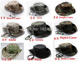 Super-sniper à vendre-Gros-US BONNIE militaire chapeaux ronds bords Sun Bonnet James Super Light Sniper Chapeau de pêche 65% polyester 35% coton Livraison Gratuite