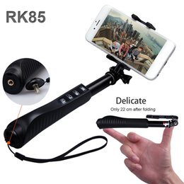 Wholesale RK85E Aluminium Alloy in Foldable Handheld Bluetooth Selfie Stick RK85 E Shutter zoom Bluetooth Monopod Self Timer For cell phone camera