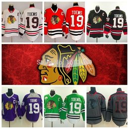 Chicago Blackhawk Jerseys Toews Cheap Jonathan Toews Jersey authentic 19 Mens chicago blackhawks Hockey jerseys Red Grey Green