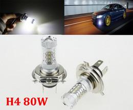 1X Super White CREE high-power Lights LED Headlamp H4 HB2 9003 CREE 80W LED Projector Hi Lo Beam Headlamp Conversion
