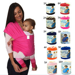 Wholesale Best Selling Elastic Cotton Newborn Two Shoulders Backpacks Solid Color Baby Carrier Wrap Canguru Baby Sling Kangaroo For Babies