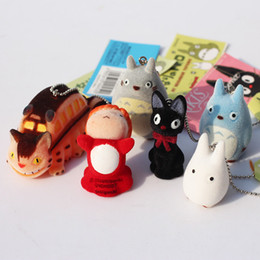 Wholesale Japanese Hayao Miyazaki Cartoon Movie My neighbor Totoro Ponyo on the Cliff KiKis Delivery Service Figure Toy Keychains