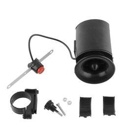 Wholesale 6 Sound Electronic Bike loudspeaker Bell Ring Alarm Siren Warning Horn Ultra Loud Voice Speaker Bicycle Accessory Black