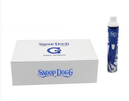 Wholesale Snoop Dogg Titan G Pro Vaporizer Kit Electronic Cigarette mah Battery Blue and white porcelain Vapor Dry Herb Wax