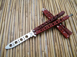 Wholesale Benchmade Trainer BM40 Butterfly Balisong knife practice balisong butterfly Trainer Die cast stainless steel handle antislip red paint