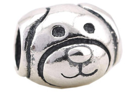 Sterling Silver Charms 925 Lovely Dog Pet Charms for Bracelets DIY Animal European Beads Accessories 3 Colors
