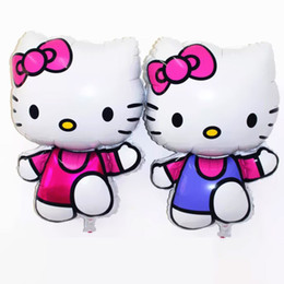 Wholesale 20pcs Hello Kitty Helium Birthday Party Decoration Inflatable Gift Baby Toys X48CM Foil Balloons