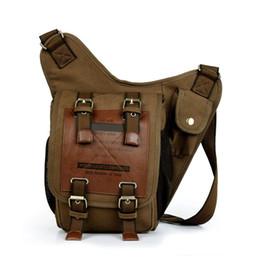 Wholesale-2015 New Fashion Men Handbag Messenger Bags Canvas Vintage Shoulder Bag Style Genuine Handbags