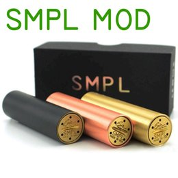 Meilleur rba à vendre-Meilleur SMPL Mod Modals Full Machanical Red Copper SS Peau de laiton noir Clone 18650 Battey 510 Thread Fit Cigar Cigar RDA cig Atomziers RBA