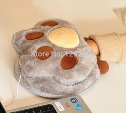 Wholesale Mayoreo envio Gratis bear amp s paw USB Calienta mouse pad mantener caliente la mano mousepad anime mouse pad Lindo tapete para ratón