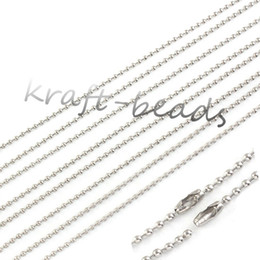 wholesale 50Pcs Charms Silver Plated Link Chains Jewelry Link Ball 2.5mm Chains Necklace 55cm Fit Pendant Jewelry