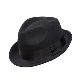 Wholesale Crushhat Wool From Australian Fedora Fashion Unisex Black Khaki Homburg Panama Jazz Hat FM008021