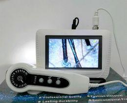 5 pulgadas de pantalla LCD Digital de diagnóstico de la piel análisis del análisis del cabello recargable portátil escáner Freeze marco fijo CE