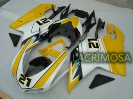 ABS Fairing for DUCATI 1098 848 1198 plastic body kits bodykits Injection Mold-Yellow NO.21