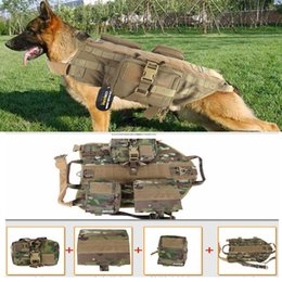 Wholesale New Army Tactical Dog Vests Outdoor Military Dog Clothes Load Bearing Harness SWAT Tactical Dog Training Molle Vest Harness Police dog