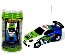 Wholesale 2016 new updated CH RC car New Coke Can Mini speed RC Radio Remote Control Micro Racing cars Toy Gifts Promotion Blue