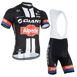2015 GIANT ALPECIN TEAM BLACK RED Short Sleeve Cycling Jersey Bike Bicycle Wear + BIB Shorts Size XS-4XL