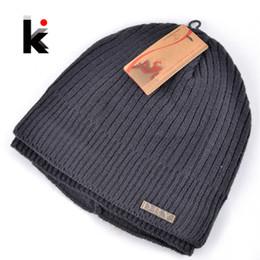 Wholesale-2015 Skullies winter balaclava mens designer hat ski mask knitted wool cap men beanie plus thick velvet hats for men turban
