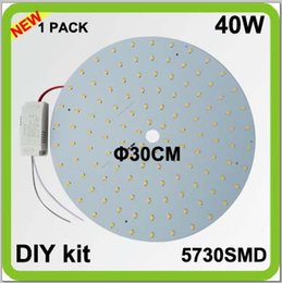 2 year warranty 1PACK DIY kits 40W LED plate ceiling light source disc led techo PCB led circular tube dia30cm = 100w 2D tube