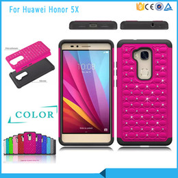 Top fashion Luxury phone case For HUAWEI honor 5x Armor Hybrid Bling Case Cover For HUAWEI honor 5x