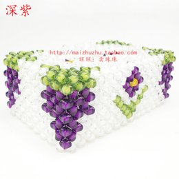 Wholesale beads DIY handicrafts beads four angle in bead bead grape tissue box material package sent tutorial paper drawing box