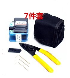 Wholesale In Fiber Optic splice FTTH Tool Kit with FC S Fiber Cleaver and CFS cable Cutter CABLE stripper allen wrench
