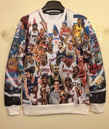 Wholesale 1PCS Unisex Casual D NBA Pullover Sweater Shirt Harajuku Sweater Punk Sweater Shirt D Hoodies Men Casual Sweatershirts
