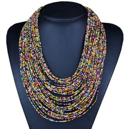 Wholesale 2016 New Fashion Boho Costume Necklaces Pendants Multi Layer Multi Layer Chain Collars Choker Statement Necklace Jewelry x046