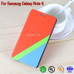 Wholesale 2014 Newest Fashion Cell Phone Cases for SAM note4 Leather Luxury Cell Phone Cover Flip stand Dirt resistant Anti knock Case