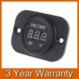 Wholesale 12V V Car Motorcycle LED DC Digital Display Voltmeter Waterproof Meter for Motorbike Car Boat Travel Trailer ATV UTV Camper order lt no tr