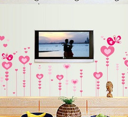 New Can remove supersolid baby wall paper wall home decorative wall stickers wholesale sofa TV background warm bedroom romantic heart love