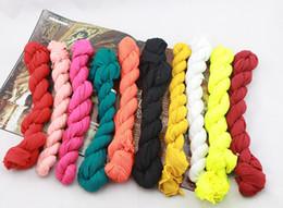 180*50cm Children Fashion Cotton Linen Fold Long Big Shawl Scarves Infinity Scarves Multicolor Punk Scarf 50Pcs Lot