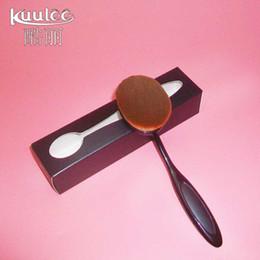 Wholesale Bendable Oval Women s Big Makeup Brush Toothbrush Shaped brush Curve Foundation Brush Contour Bendable Blush