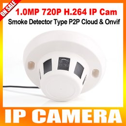 Promotion dôme intérieur caméras ip H.264 Covert câblé IP Caméra Temps réel 1.0Megapixel 720p HD Onvif P2P Fonction Sécurité intérieur Réseau Dôme Caméras Smoke Style Caché