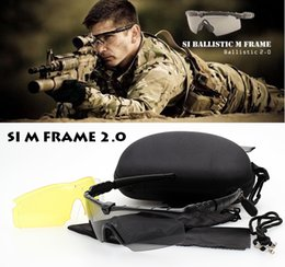 Wholesale New SI Bal M Frame Tactical Goggles Outdoor Sports Windproof Shooting US Army Military Sunglasses Men Oculos De Sol