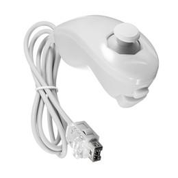New White Nunchuck Nunchuk Jeu Vidéo télécommande pour Nintendo pour la console Wii gros Livraison gratuite à partir de jeux vidéo classiques fournisseurs
