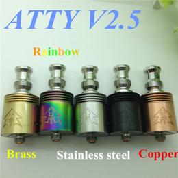 Atty v2.5 atomizer RDA RBA mod tobh 2.5 vaporizer stainless steel rba rebuildable atomizer rda ecig i atty